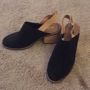 TOMS suede mules with strap